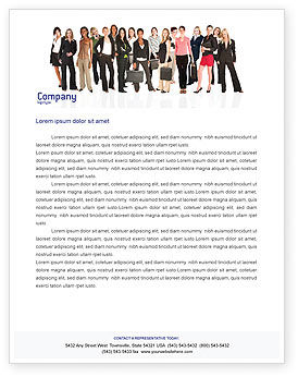 People: Business Ladies Letterhead Template #03813