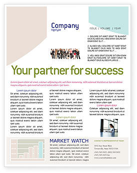 People: Business Ladies Newsletter Template #03813