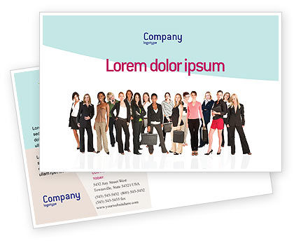 Business Ladies Postcard Template, 03813, People — PoweredTemplate.com
