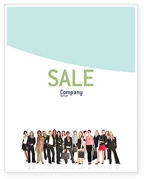 People: 商务女士们海报模板 #03813