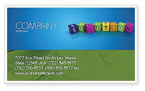 Solution 3D Business Card Template, 03819, Education & Training — PoweredTemplate.com