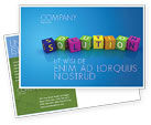 Education & Training: Solution 3D Postcard Template #03819