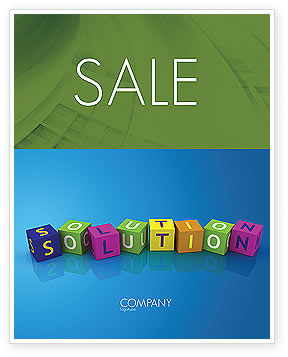Solution 3D Sale Poster Template, 03819, Education & Training — PoweredTemplate.com