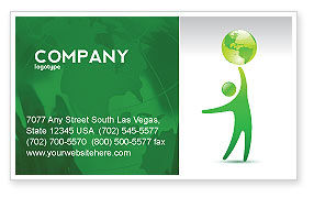 Nature & Environment: Eco-World Business Card Template #03820