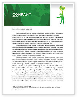 Nature & Environment: Eco-World Letterhead Template #03820