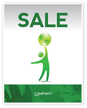 Eco-World Sale Poster Template, 03820, Nature & Environment — PoweredTemplate.com