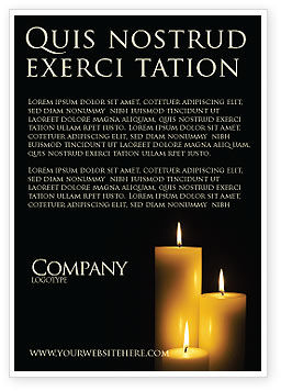 Candles Ad Template, 03822, Religious/Spiritual — PoweredTemplate.com