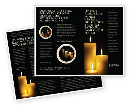 Religious/Spiritual: Candles Brochure Template #03822