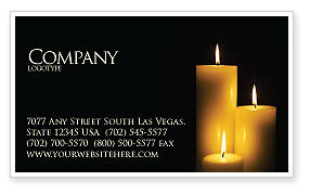 Religious/Spiritual: Candles Business Card Template #03822