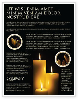 Religious/Spiritual: Candles Flyer Template #03822