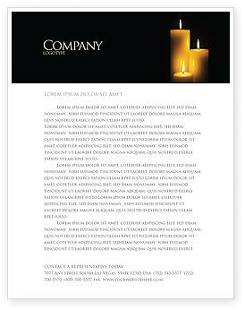 Candles Letterhead Template