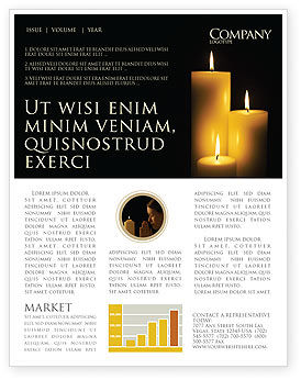 Religious/Spiritual: Candles Newsletter Template #03822