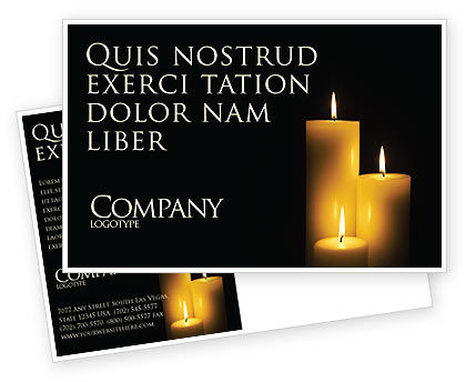 Religious/Spiritual: Candles Postcard Template #03822