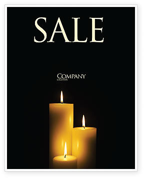 Religious/Spiritual: Candles Sale Poster Template #03822
