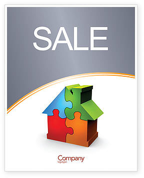Construction: Real Estate Finance Puzzle Sale Poster Template #03823