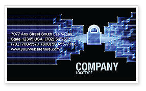 Technology, Science & Computers: Safe Data Transfer Business Card Template #03825
