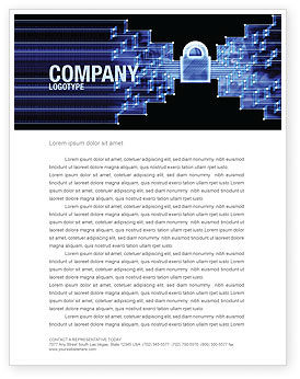 Technology, Science & Computers: Safe Data Transfer Letterhead Template #03825
