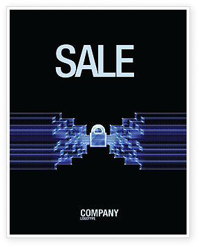 Technology, Science & Computers: Safe Data Transfer Sale Poster Template #03825