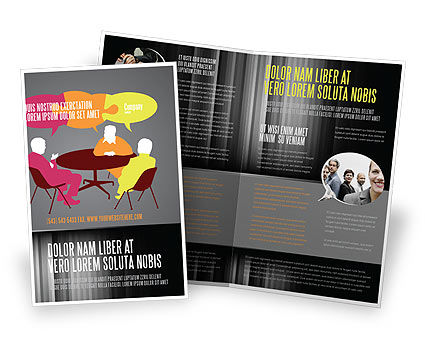 Business: Dialogue Brochure Template #03826