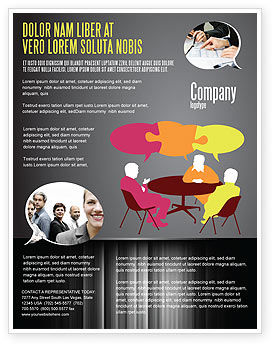 Business: Dialogue Flyer Template #03826