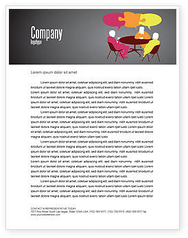 Business: Dialogue Letterhead Template #03826