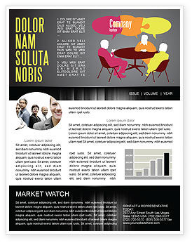 Dialogue Newsletter Template, 03826, Business — PoweredTemplate.com