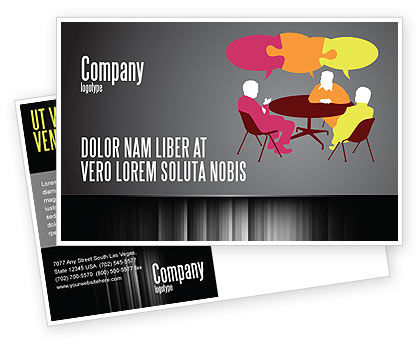 Business: Dialogue Postcard Template #03826