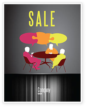 Business: Dialogue Sale Poster Template #03826