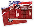 America: Torn Flag Brochure Template #03827