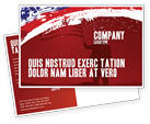 America: Torn Flag Postcard Template #03827