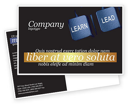 Business: MBA Postcard Template #03828