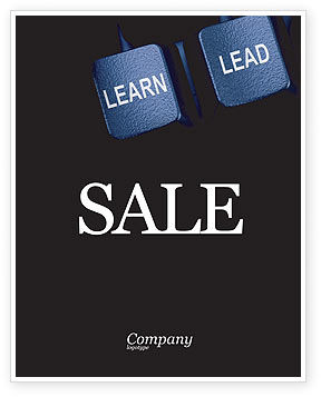 MBA Sale Poster Template, 03828, Business — PoweredTemplate.com