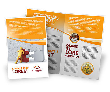 Business: Missing Part Completing Brochure Template #03829