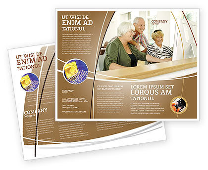 Age And Technology Brochure Template Design And Layout, Download