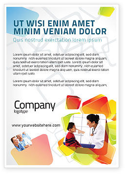 Paediatrist Ad Template, 03835, Medical — PoweredTemplate.com