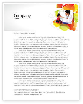 Paediatrist Letterhead Template, 03835, Medical — PoweredTemplate.com