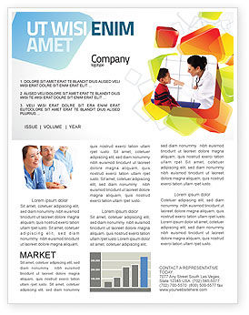 Paediatrist Newsletter Template, 03835, Medical — PoweredTemplate.com
