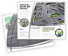 Cars/Transportation: Plantilla de folleto - cruce de carreteras #03837