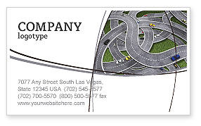 Cars/Transportation: 명함 템플릿 - 고속도로 분기점 #03837