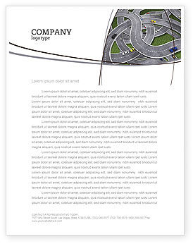 Cars/Transportation: Highway Junction Letterhead Template #03837