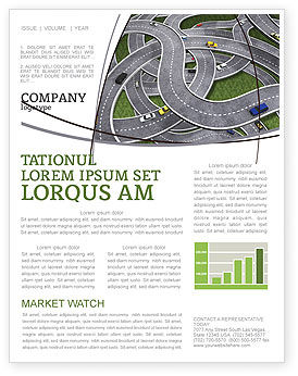 Cars/Transportation: Highway Junction Newsletter Template #03837