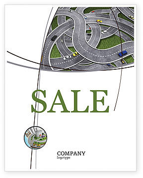 Cars/Transportation: Highway Junction Sale Poster Template #03837
