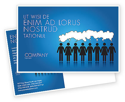 Business Concepts: Mental Area Postcard Template #03839