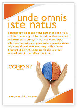 Cerebral Hemispheres Ad Template, 03840, Consulting — PoweredTemplate.com