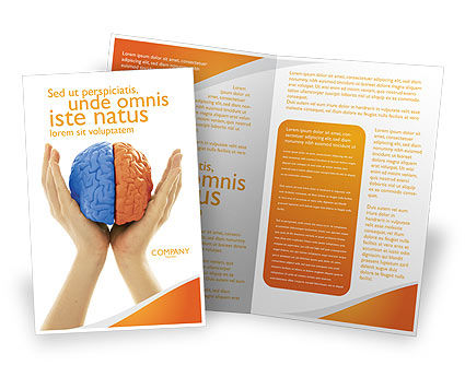 Cerebral Hemispheres Brochure Template