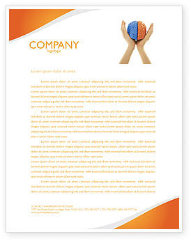 Cerebral Hemispheres Letterhead Template, 03840, Consulting — PoweredTemplate.com