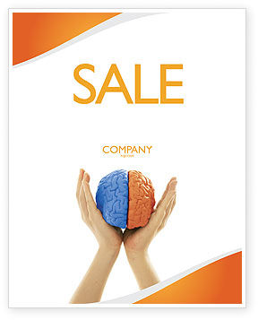 Cerebral Hemispheres Sale Poster Template, 03840, Consulting — PoweredTemplate.com