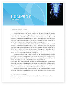 Technology, Science & Computers: Digital Memory Letterhead Template #03844