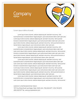Hands Of Unity Letterhead Template, 03846, Education & Training — PoweredTemplate.com