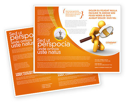 Particulars Brochure Template, 03847, 3D — PoweredTemplate.com